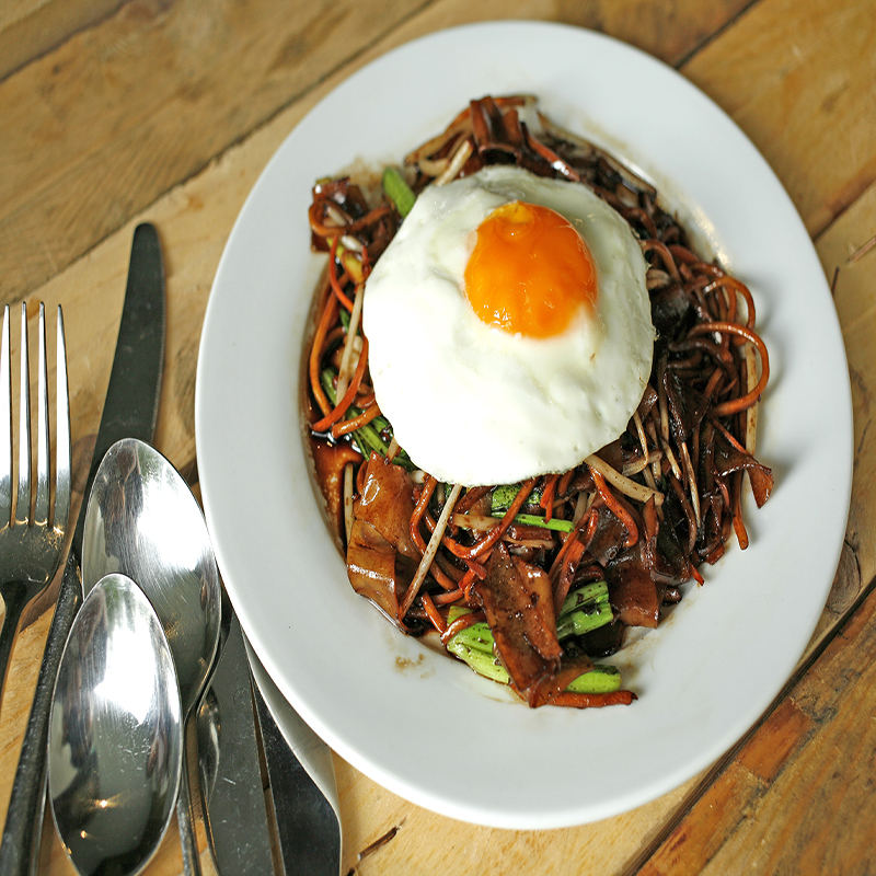 FRIED KWAY TEOW MEE WITH EGG
